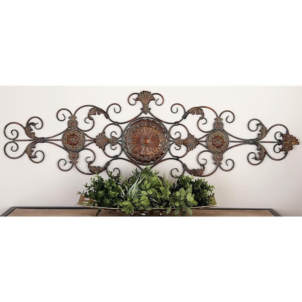 Iron Scrollwork Wall Decor Iron Bronze Acanthus Leaf And Scrollwork Wall Decor42752  The