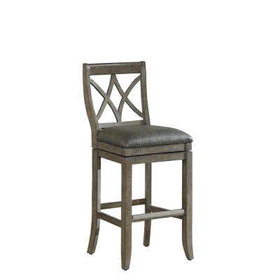 Hadley 34 in. Gray Extra Tall Stool in Glacier
