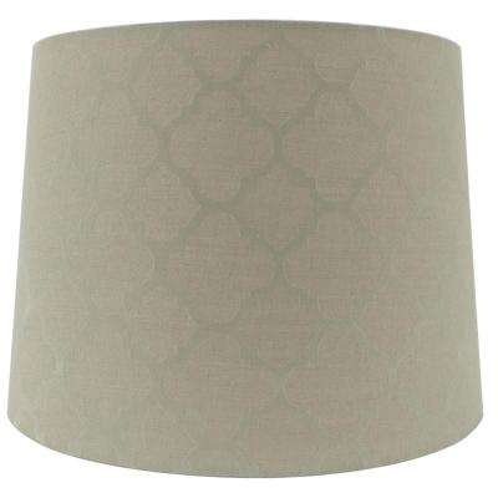 15 in. W x 11 in. H Light Khaki Pattern Hardback Empire Lamp Shade