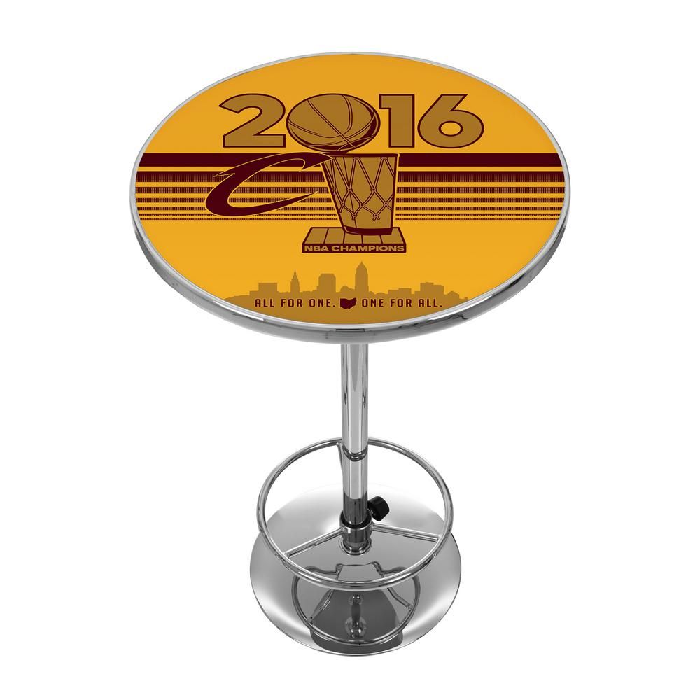 NBA Cleveland Cavaliers Chrome Pub/Bar Table