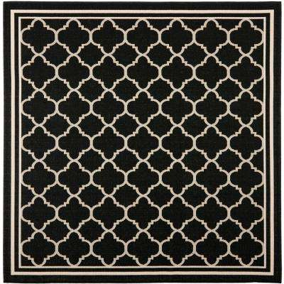 Square 1\'-6\' - Black - Outdoor Rugs - Rugs - The Home Depot