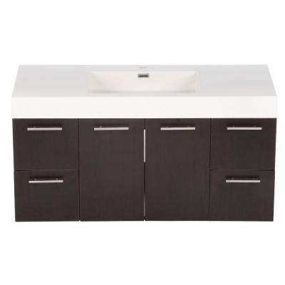Amare 48 in. Vanity in Espresso with Acrylic-Resin Vanity Top in White and Integrated Sink