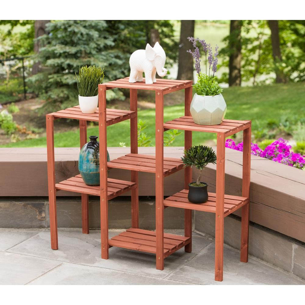 Leisure Season 38 in. x 12 in. x 34 in. 7-Tier Plant Stand ...