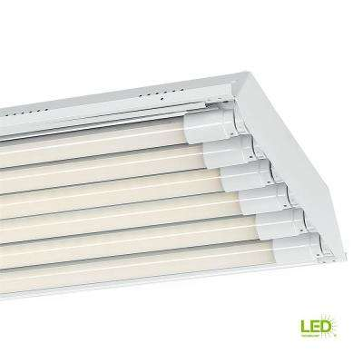 4 ft. 6-Light T8 White High Bay Light with 1800 Lumen LED Tubes 3500K