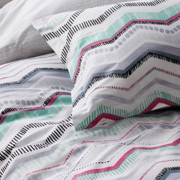 The Company Store Lacey 3 Piece Multicolored Striped Cotton Percale Full Duvet Cover Set 50390n F Multi The Home Depot