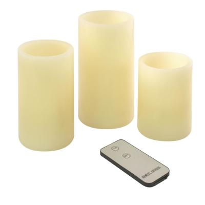 Round Flameless Candle Set (Set of 3)