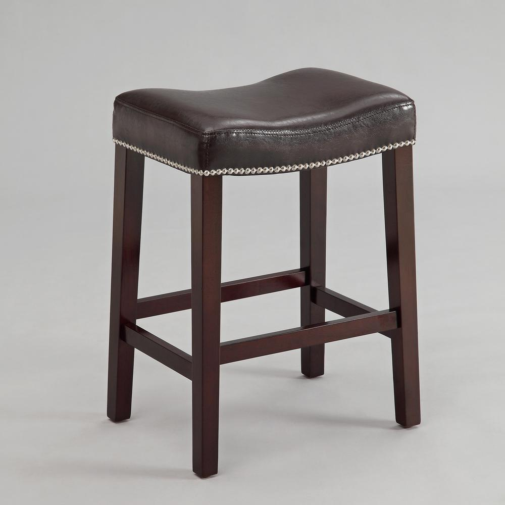 25 8 In Nadia Espresso Saddle Stool Set Of 2 2791 Es