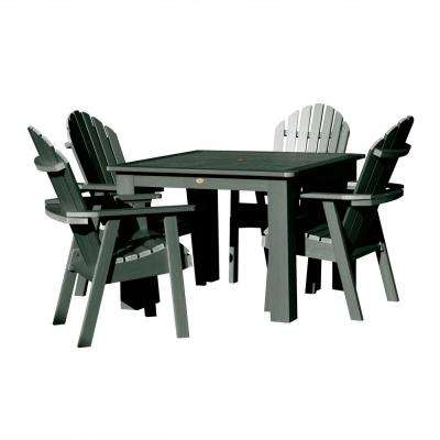 Hamilton Charleston Green 5-Piece Recycled Plastic Square Outdoor Dining Set