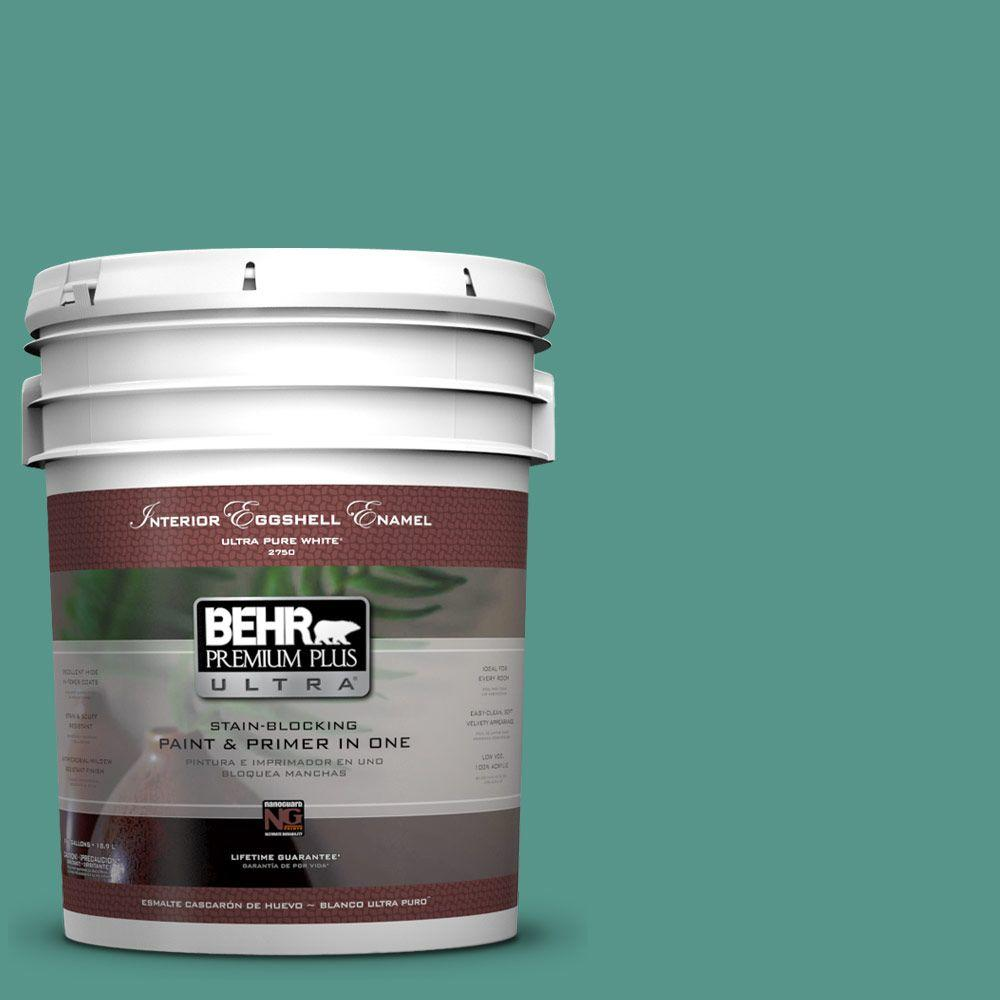 5 gal. #490D-6 Thermal Spring Eggshell Enamel Interior Paint and Primer