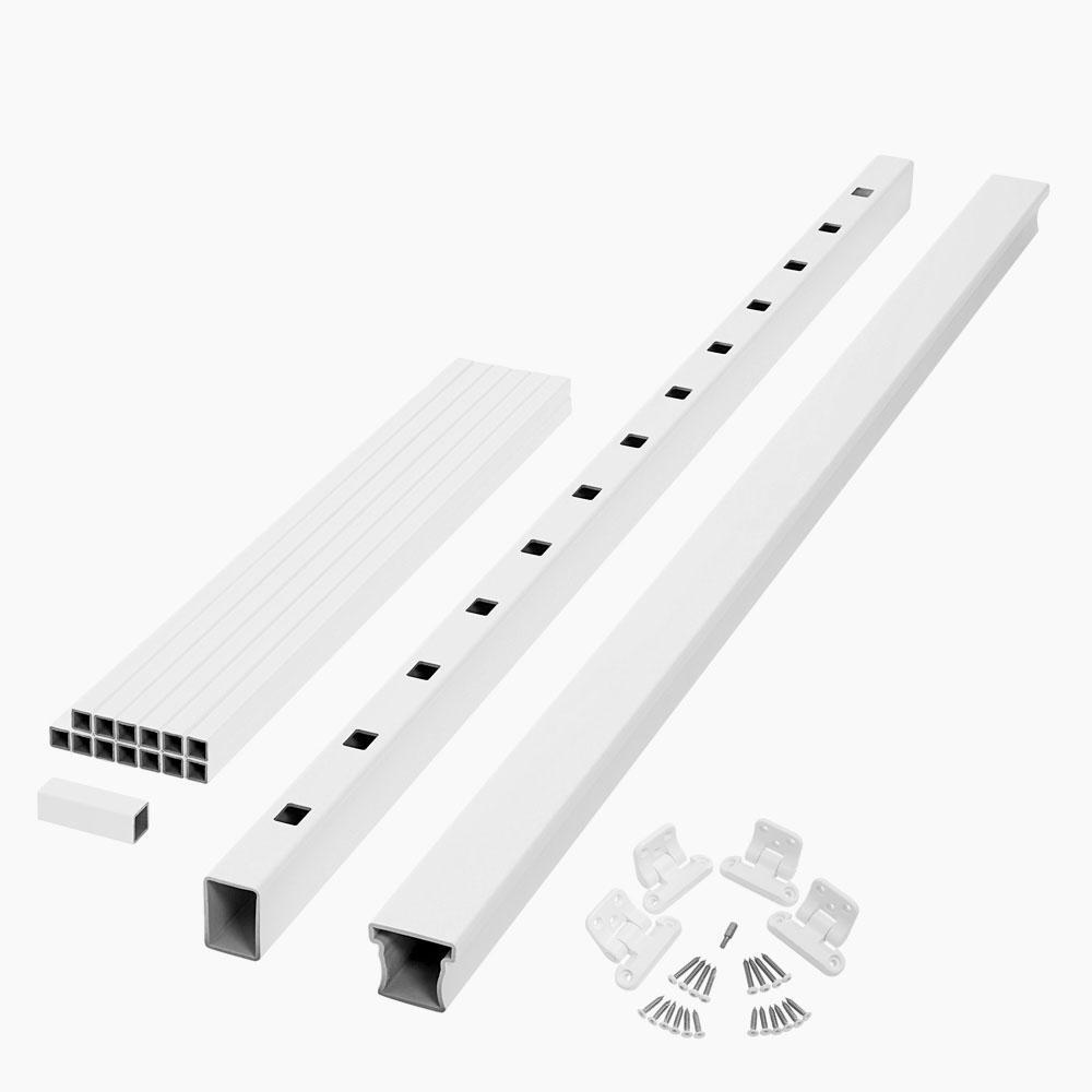 Fiberon ArmorGuard Enclave 70 in. White Composite Stair Rail Kit