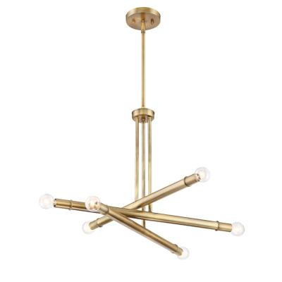 Emmett 6-Light Old Satin Brass Chandelier