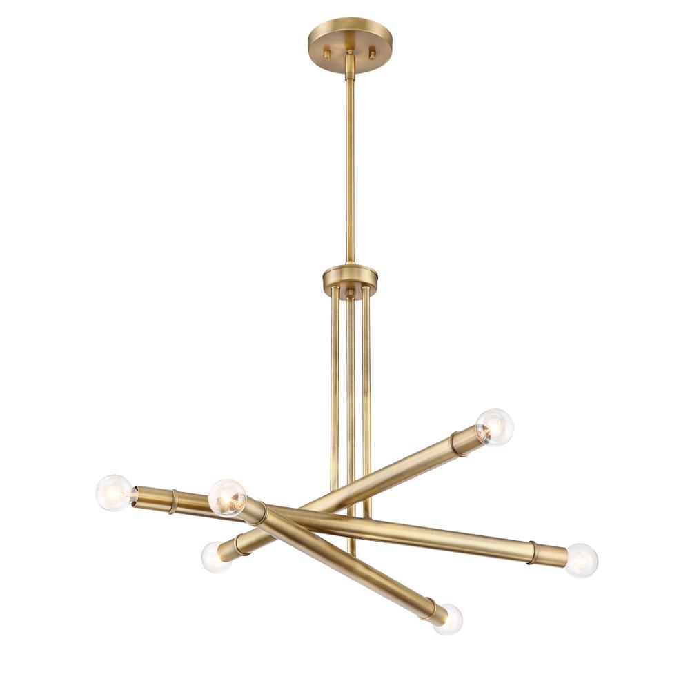 Emmett 6-Light Old Satin Brass Chandelier