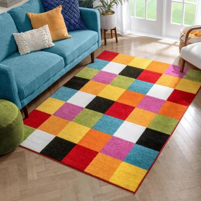 StarBright Bright Square Multi 3 ft. x 5 ft. Kids Area Rug