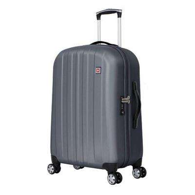 24 in. Upright Hardside Spinner Suitcase in Grey