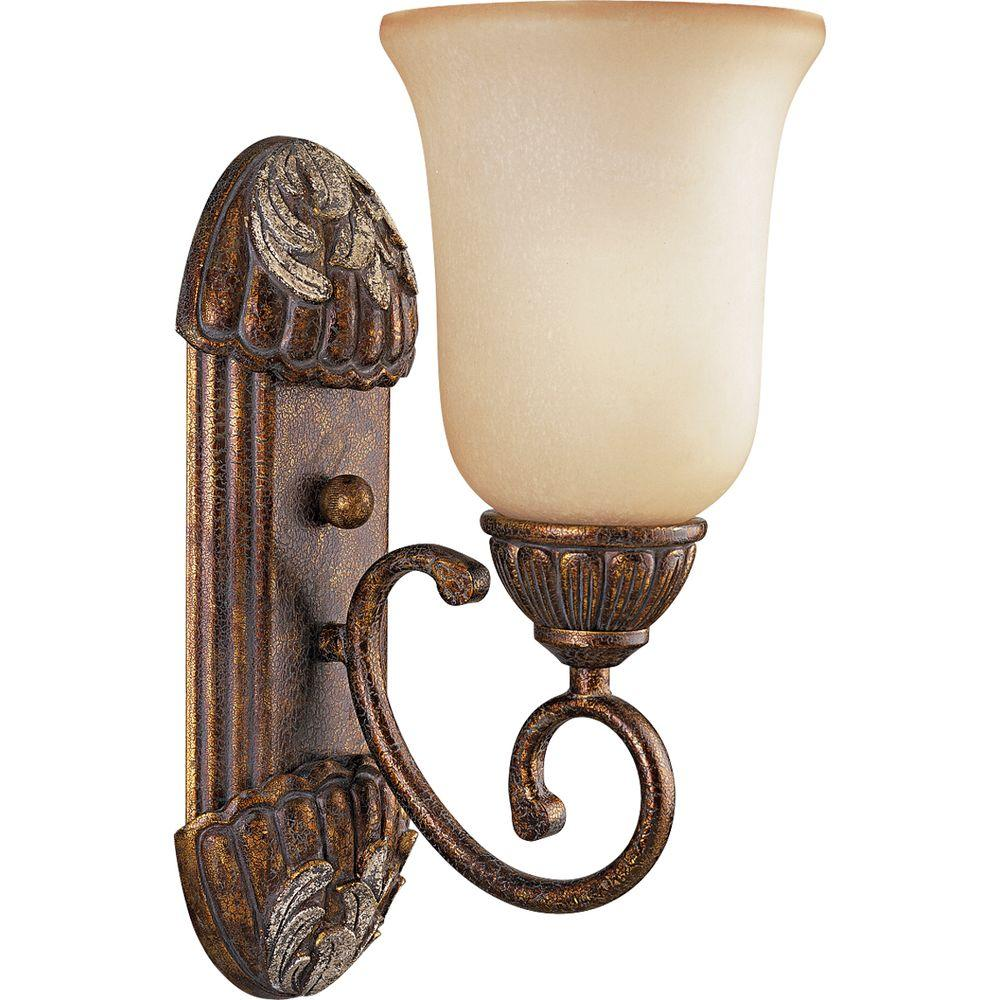 Thomasville Lighting Carmel Collection Tuscany Crackle 1-light Vanity Fixture-DISCONTINUED