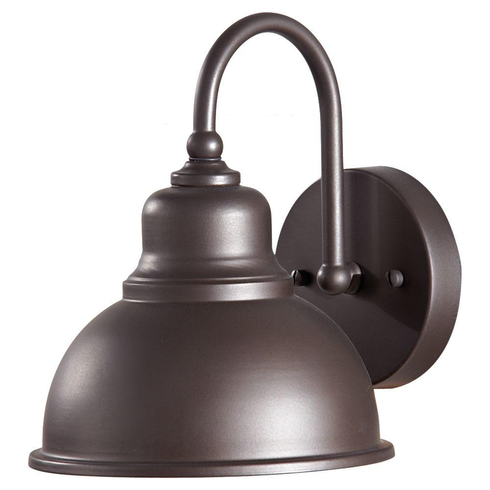 Darby 1-Light Oil-Rubbed Bronze Outdoor Wall Bracket