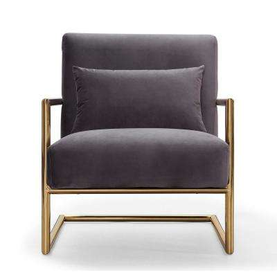 Elle Grey Velvet Chair