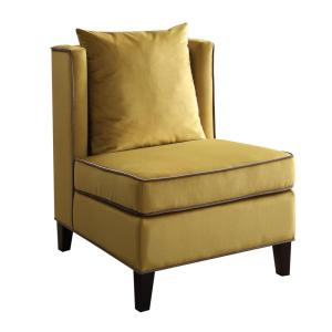 Internet #301764162. +3. Acme Furniture Ozella Accent Chair In Yellow