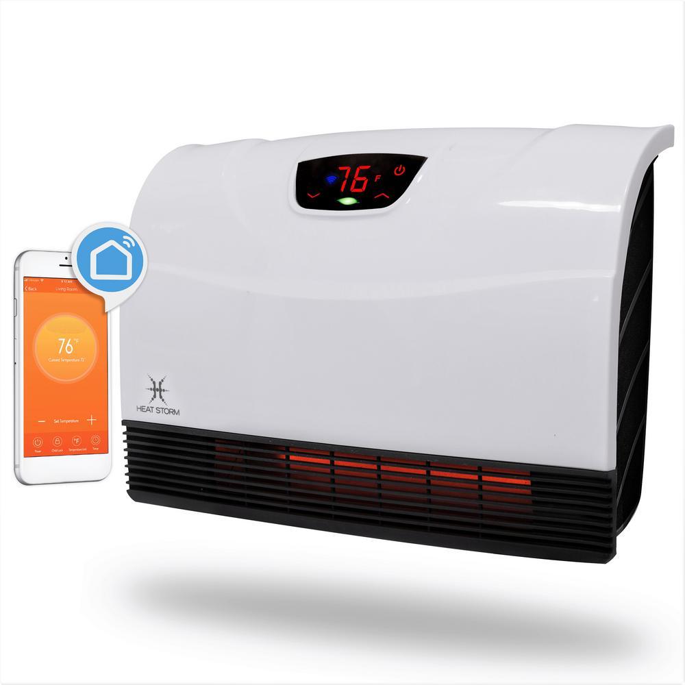 Heat Storm 1,500-Watt Wi-Fi Smart Heater Deluxe Indoor Floor to Wall Infrared Heater