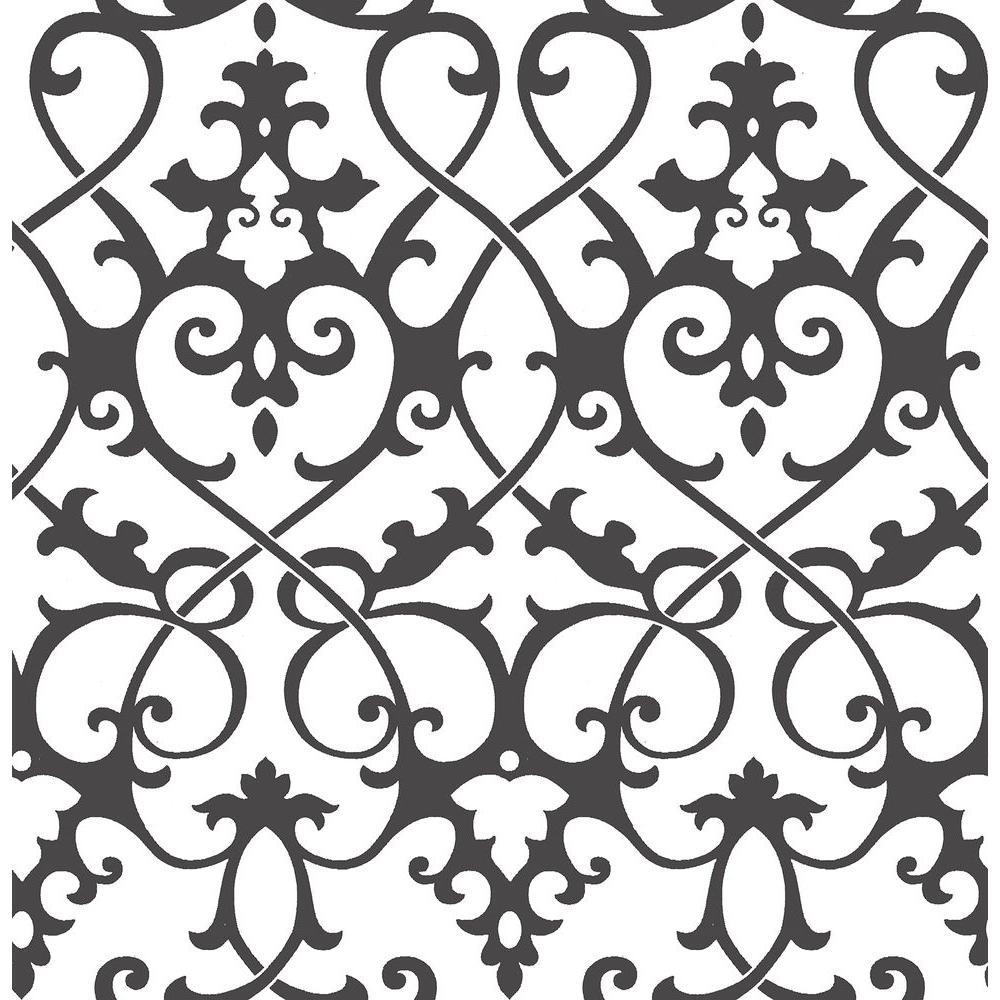 A-Street Axiom Black Ironwork Wallpaper 2625-21869