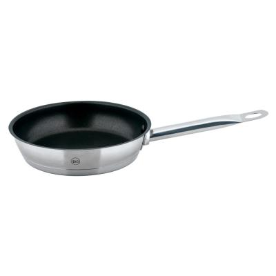 PRO-X 8 in. Stainless Steel Nonstick Skillet in Satin Stainless Steel