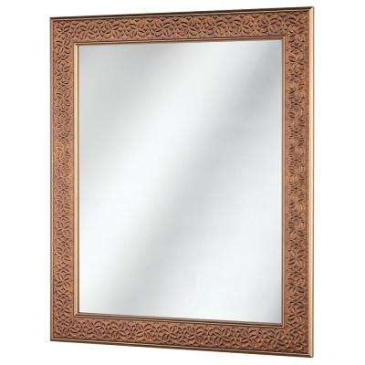 24 in. x 29 in. Framed Fog Free Wall Mirror in Bronze