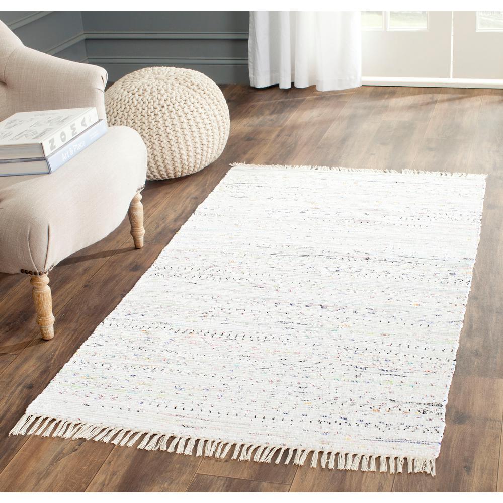 Safavieh Rag Rug White/Multi 2 ft. x 3