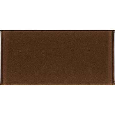 Cinnamon 3 in. x 6 in. Glass Wall Tile (1 sq. ft. / case)