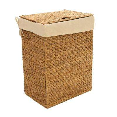 Collapsible Water Hyacinth Laundry Hamper