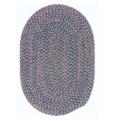 Petra Federal Blue 12 ft. x 15 ft. Oval Braided Area Rug