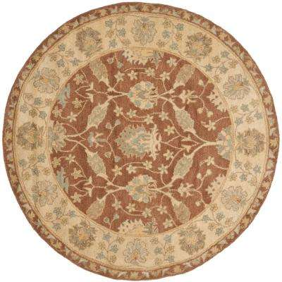 Antiquity Brown Taupe 6 Ft X Round Area Rug Safavieh