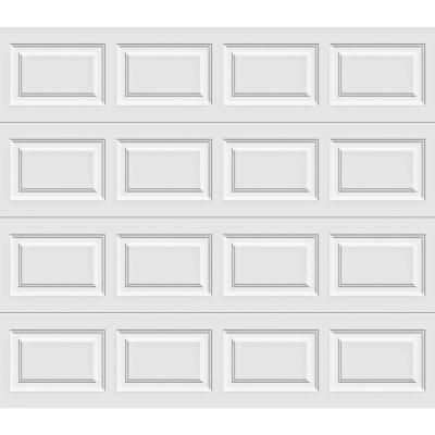 Classic Collection 8 ft. x 7 ft. 12.9 R-Value Intellicore Insulated Solid White Garage Door with Exceptional