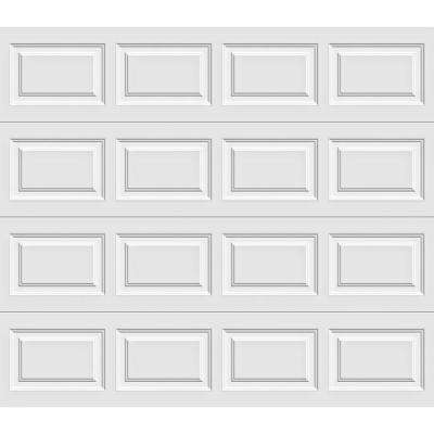 Premium Series 8 ft. x 7 ft. 12.9 R-Value Intellicore Insulated Solid White Garage Door with Exceptional