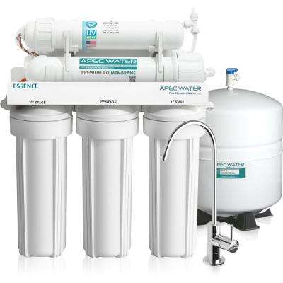 Essence Under Counter Reverse Osmosis UV Disinfecting 75 GPD 6-Stage Drinking Water Filtration System
