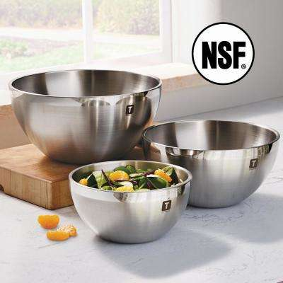 Gourmet 3-Piece Double Wall Stainless Steel Mixing Bowls
