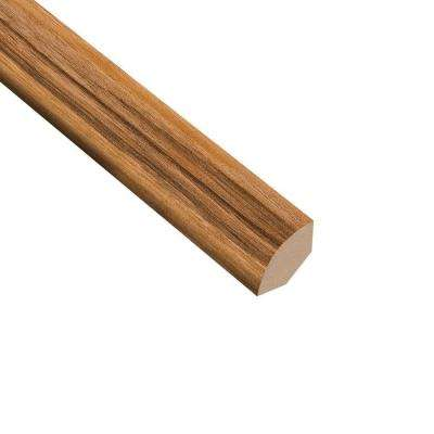 High Gloss Natural Palm 19.5 mm Thick x 3/4 in. Wide x 94 in. Length Laminate Quarter Round Molding