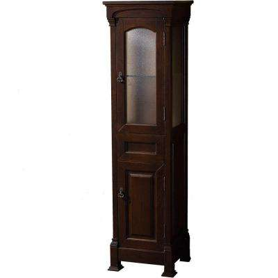 Andover 18 in. W x 65 in. H x 16 in. D Bathroom Linen Storage Tower Cabinet in Dark Cherry
