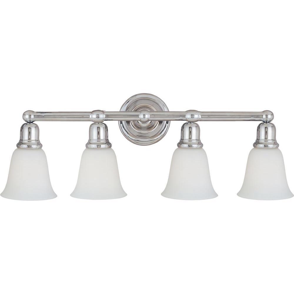 Bel Air 4-Light Polished Chrome Bath Vanity Light