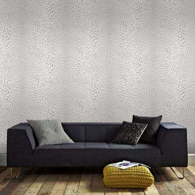 White and Silver Leopard Wallpaper