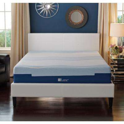 12 in. Split-King Size Engineered Latex Gel Foam Mattress
