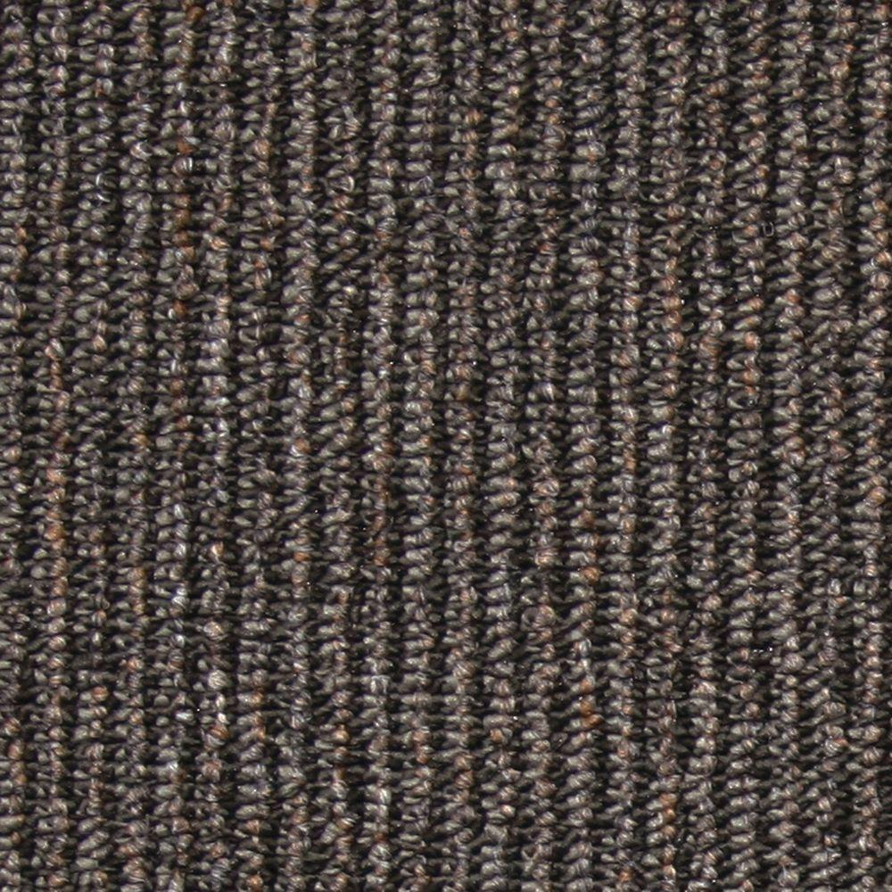 Central Park Charcoal Loop 19.7 in. x 19.7 in. Carpet Tile