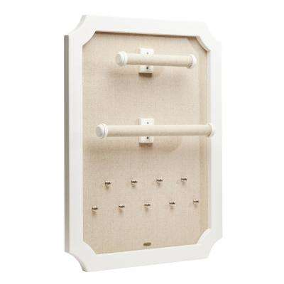 Kyla White Wooden Jewelry Organizer