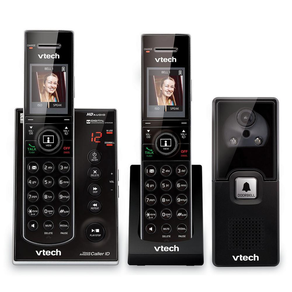 2-Handset Audio/Video Doorbell Answering System