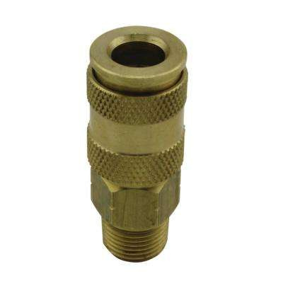 3/8 in. MNPT V Style High Flow Coupler