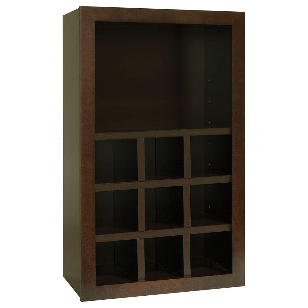 Shaker Assembled 18x30x12 in. Wall Flex Kitchen Cabinet with Shelves and