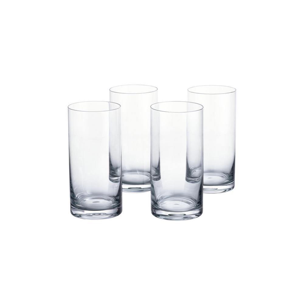 Skylar 19.8 fl. oz. Charcoal Gray Ombre Highball Glasses (Set of 4)