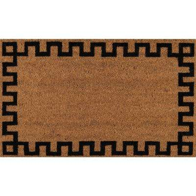 Greek Key Natural 1 ft. 6 in. x 2 ft. 6 in. Doormat