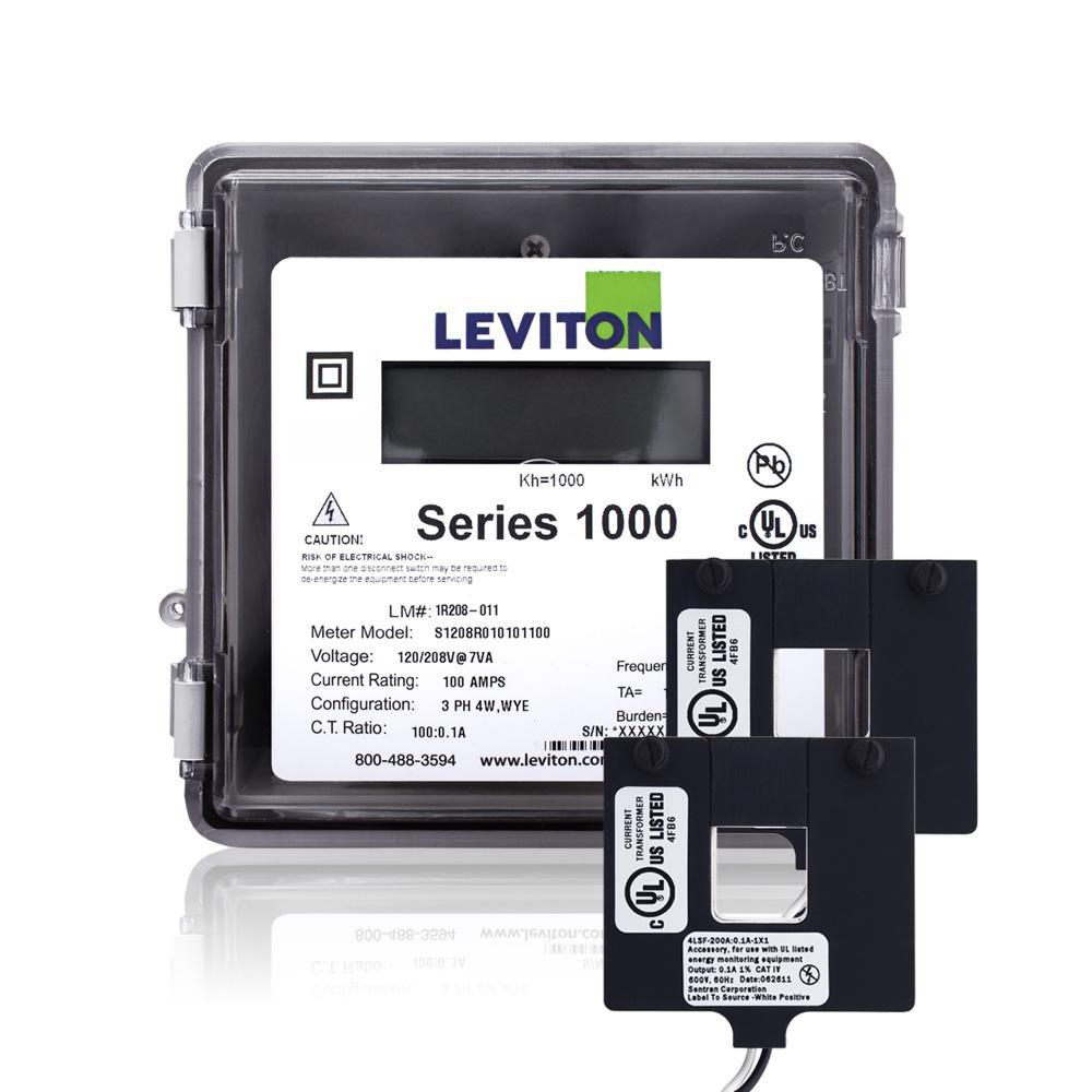 Leviton Series 1000 Single Phase Outdoor Meter Kit, 120/240-Volt 100 ...