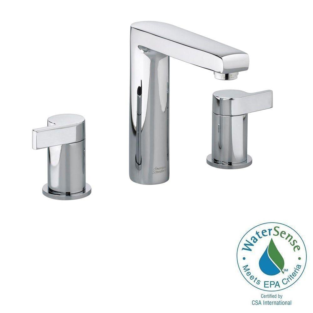 American standard studio 8 in widespread 2 handle mid arc - Polished chrome bathroom faucets ...
