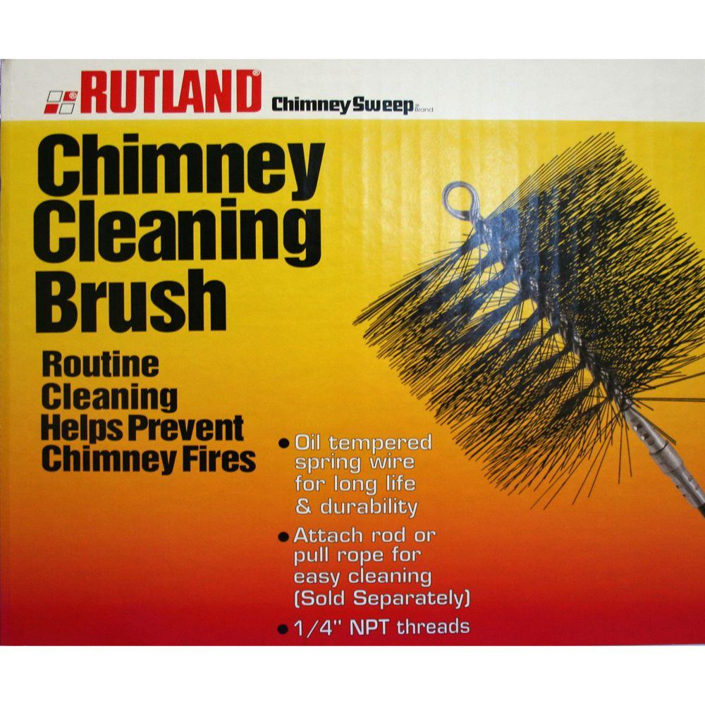 Rutland 8 In X 12 In Chimney Sweep Rectangular Chimney Cleaning Brush 16533 The Home Depot